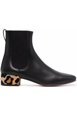 Francesco Russo Women Ankle Boots - Leopard heel ankle boots