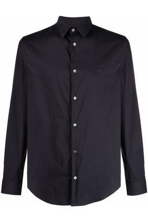 Emporio Armani Men Long sleeves - Logo-patch longsleeved shirt