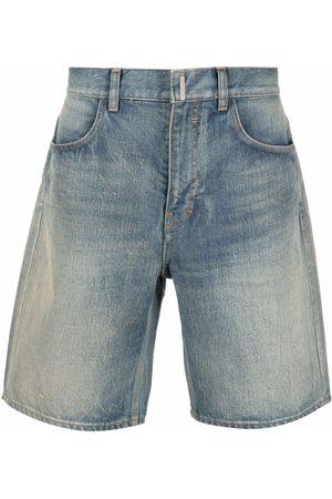 Givenchy Men Bermudas - Wide-leg denim shorts