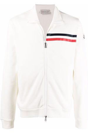 Moncler Logo-stripe zipped sweatshirt