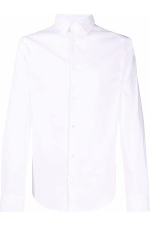 Emporio Armani Logo-patch longsleeved shirt