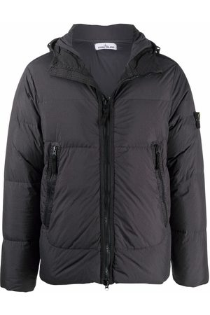 Stone Island Men Puffer Jackets - Compass badge puffer jacket - Grey