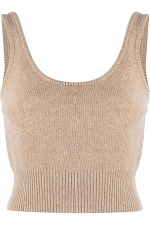 Federica Tosi Women Camisoles - Ribbed-detail knit top - Neutrals