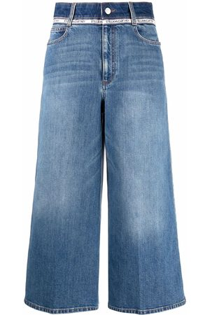 Stella McCartney Women Wide Leg - Organic cotton cropped jeans