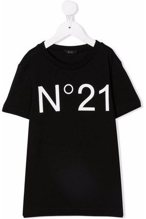 Nº21 Kids Girls Short Sleeve - Logo-print short-sleeve T-shirt