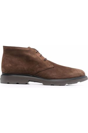 Hogan Men Lace-up Boots - Nubuck leather desert boots