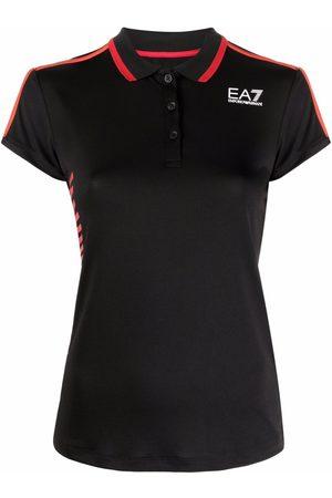 Ea7 Emporio Armani Women Polo Shirts - Logo-print short-sleeve polo shirt