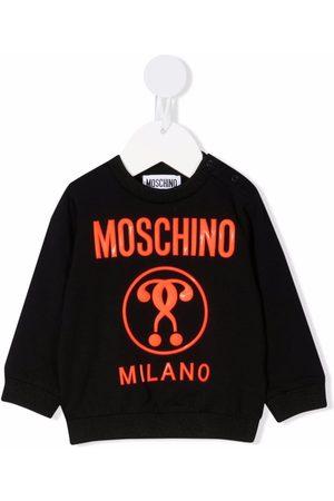 Moschino Hoodies - Double Question Mark-print sweatshirt