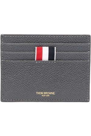 Thom Browne Men Wallets - RWB-stripe pebbled cardholder - Grey