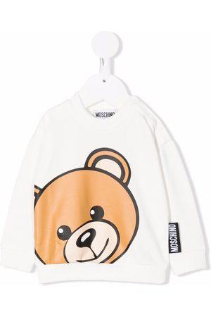 Moschino Hoodies - Teddy print crew neck sweatshirt