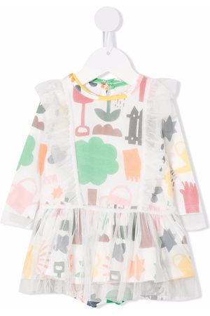 Stella McCartney Baby Printed Dresses - Garden-print tulle dress