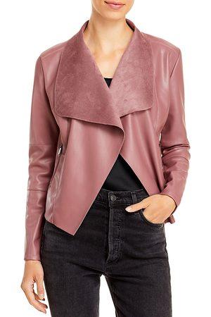 Bagatelle Women Leather Jackets - Draped Faux Leather Jacket
