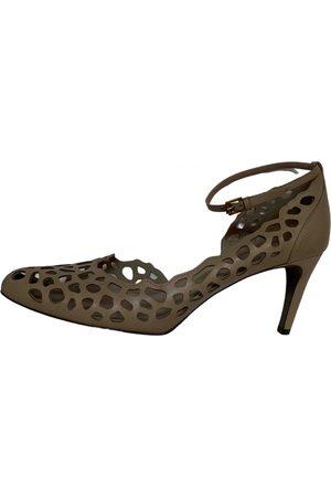 Jil Sander Grey Leather Heels
