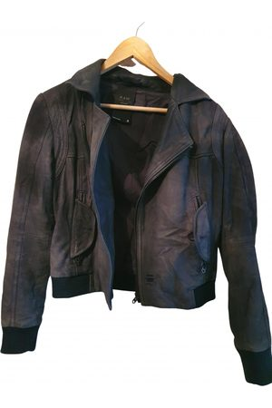 G-Star Anthracite Suede Leather Jackets