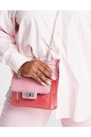 Steve Madden Women Purses - BVyper vinyl crossbody bag with diamante trim-Neutral