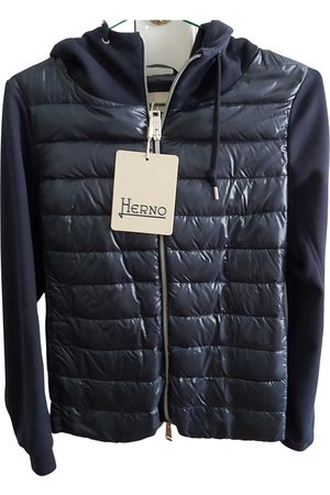 HERNO Navy Synthetic Leather Jackets