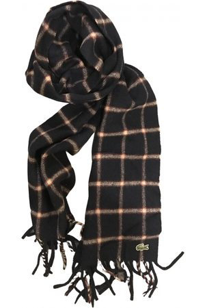 Lacoste Navy Wool Scarves & Pocket Squares