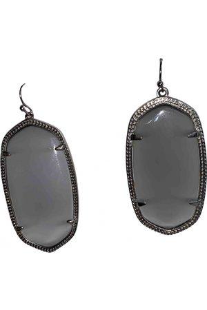 Kendra Scott Grey Metal Earrings
