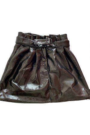 Motivi Patent leather mini skirt