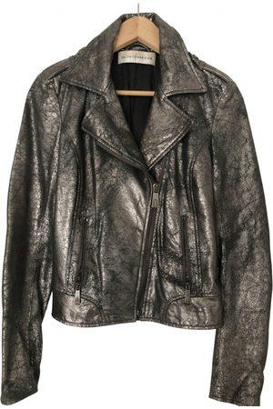 FAITH CONNEXION Metallic Leather Jackets
