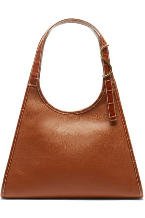 Staud Women Purses - Rey Grained-leather Shoulder Bag - Womens - Tan