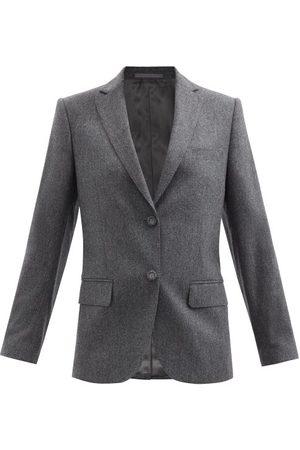 OFFICINE GENERALE Charlene Single-breasted Wool-flannel Jacket - Womens - Grey