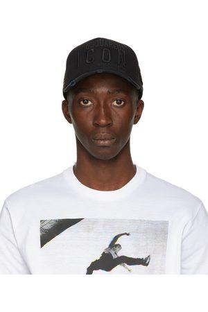 Dsquared2 Black Embroidered Baseball Cap