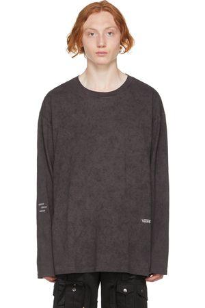 C2H4 Grey Vans Edition Sprayed Long Sleeve T-Shirt