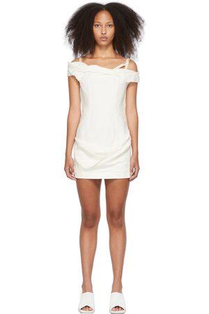 Jacquemus White 'La Robe Foglio' Dress