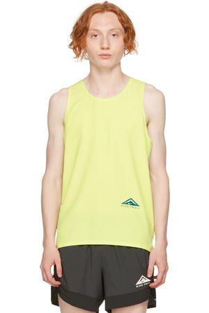 Nike Yellow & Grey Dri-FIT Rise 365 Tank Top