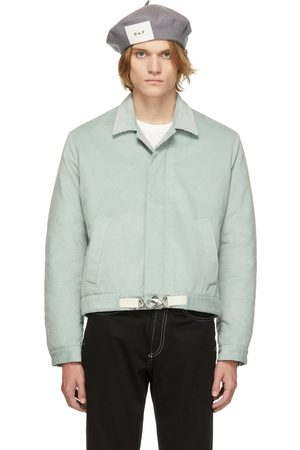 Daniel W. Fletcher Blue Corduroy Padded Blouson Jacket