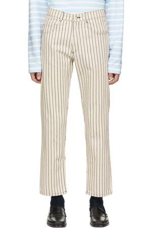 Daniel W. Fletcher Off-White Hickory Stripe Jeans