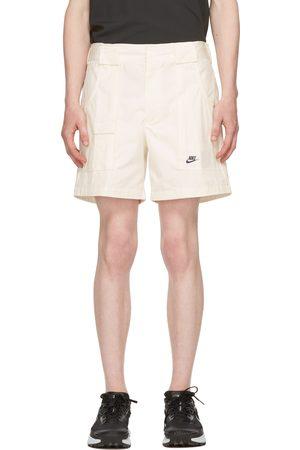 Nike White Canvas Shorts