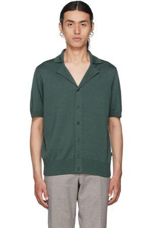 HUGO BOSS Green Hemilio Short Sleeve Cardigan