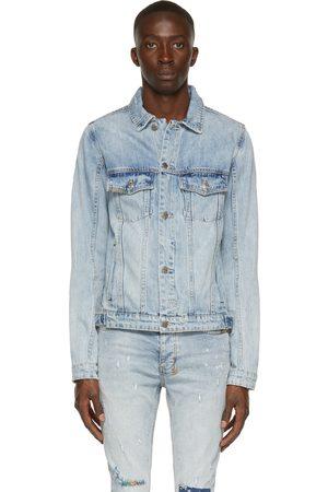 KSUBI Blue Classic Kolor Stitch Jacket