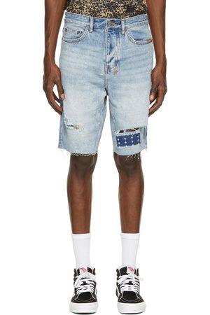 KSUBI Blue Wolf Kolor Stitch Shorts