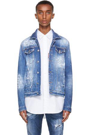 Dsquared2 Blue Distress Dan Jacket