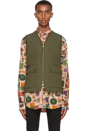 Dsquared2 Green Quilted Puffer Vest