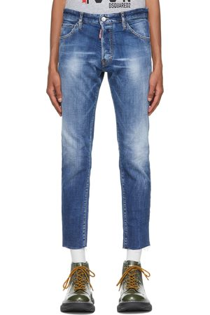 Dsquared2 Blue Cool Guy Cropped Jeans