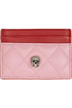 Alexander McQueen Pink & Red Pave Skull Card Holder