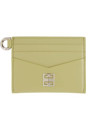 Givenchy Green Leather 4G Card Holder