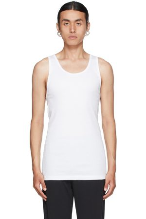 Calvin Klein Three-Pack White Cotton Classic Tank Tops