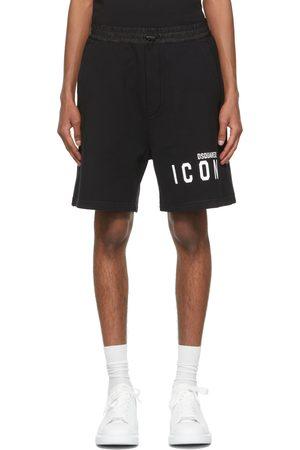 Dsquared2 Black & White 'Icon' Shorts