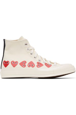 Comme des Garçons Off-White Converse Edition Multiple Hearts Chuck 70 High Sneakers