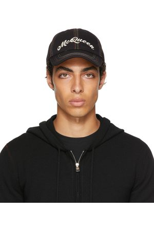 Alexander McQueen Black & Multicolor Baseball Cap