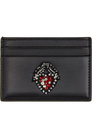 Alexander McQueen Black Heart Embroidery Card Holder