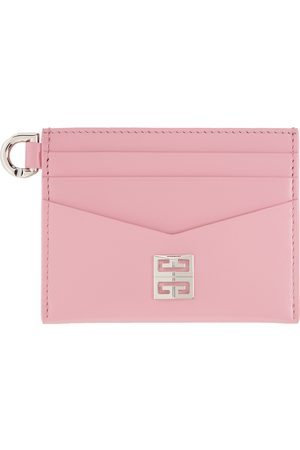 Givenchy Pink Leather 4G Card Holder