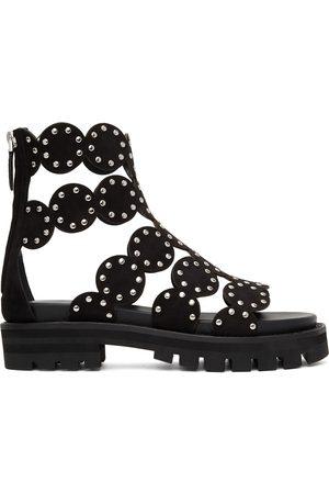 Alaïa Black Platform Sandals