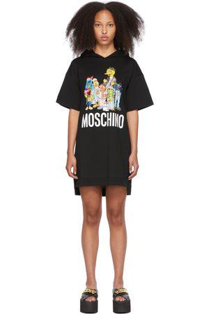 Moschino Black Sesame Street Edition Hoodie Dress