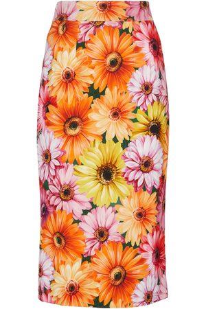 Dolce & Gabbana Cady floral pencil skirt